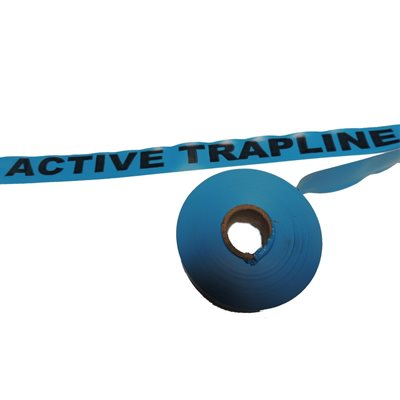 "Flagging Tape Printed ""Active Trapline"" - Blue"