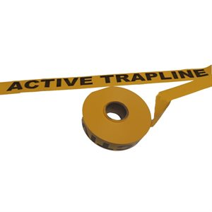 "Flagging Tape Printed ""Active Trapline"" - Yellow"