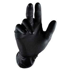 Grippaz Nitrile Gloves - Black (5 Pair)
