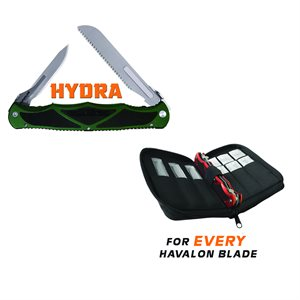 Hydra Dual Blade Folding Knife (Hunter Green)
