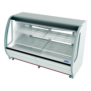 "Deli Case 74"" White"