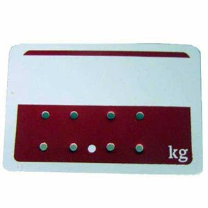 Red and White Deli Tags (Kg)