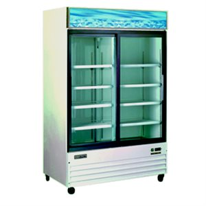 Omcan Display 2 Glass Door Cooler, 44.8 Cubic Feet (110 Volt)