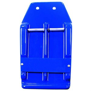 "Blue Plastic Knife Scabbard Holds Two 7"" Knives (7"")"
