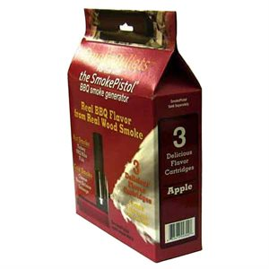 SmokeBullet Refill Cartridges (3-Pack) for The SmokePistol - Apple