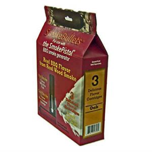 SmokeBullet Refill Cartridges (3-Pack) for The SmokePistol - Oak