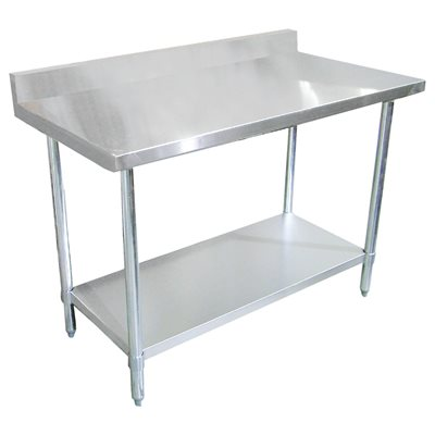 stainless steel work table with 4 backsplash 30 x 60