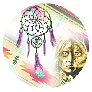 "Cabochon - 1"", Dream Catcher With  Animal - Style 3"