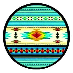 Cabochon - 1'', Turquoise Assorted Pattern 4