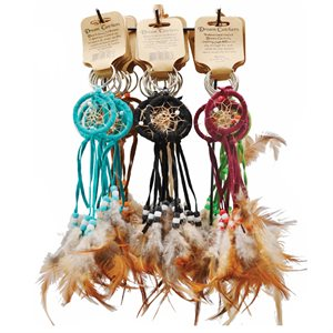 1.5 Dream Catcher Key Chain - Ast'd Colours