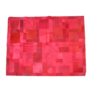 Designer Rug Dyed Red - Small