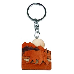 Bear Woodland Keychain