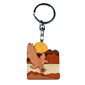 Eagle Woodland Keychain
