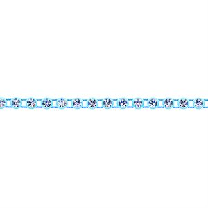 Rhinestone Banding - Light Blue/Crystal