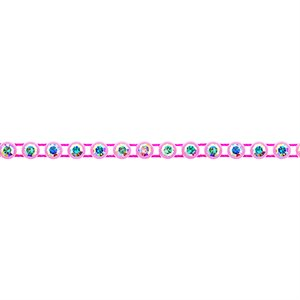 Rhinestone Banding - Light Pink/Crystal AB