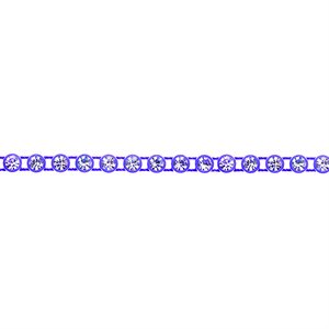Rhinestone Banding - Purple/Crystal