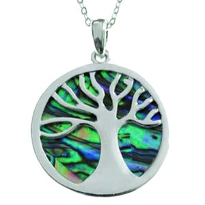 Pendant - Abalone Tree Of Life
